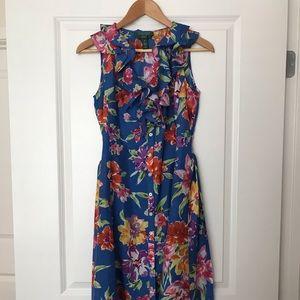 🌿 Lauren/Ralph Lauren silk floral print dress